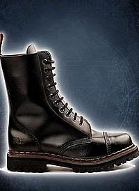 Aderlass 10-Eye-Boot Leather Black