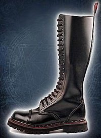 Aderlass 20-Eye-Boot Leather Black