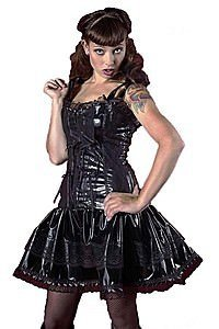 Bitter Beauty Gloss Gothic Lack Kleid