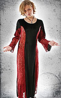Bloody Rose Gothic-Kleid, Samt