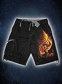 Burn In Hell Shorts im Retrolook SPIRAL