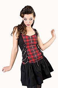 Clash Frill Tartan Gothic Kleid