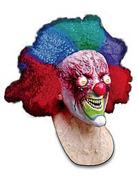 Crazy Clown Latex Maske