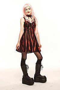 Ember Sweetheart Gothic Kleid