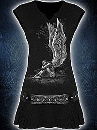 Enslaved Angel Kleid mit Nietenbesatz SPIRAL
