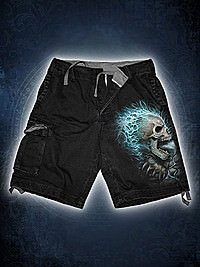 Flaming Spine Vintage Shorts schwarz SPIRAL