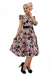 Floral Flared Pinup Kleid