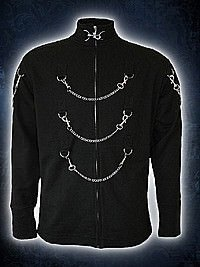 Game Over Fleece Gothic Jacke mit Ketten SPIRAL