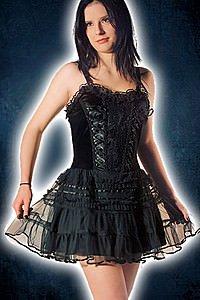 Gothic Kleid mit Tüllrock