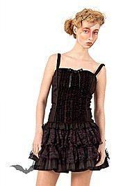 Gothic Minikleid mit Rüschen