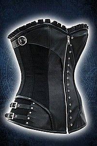 Gothic Rock Corset Kunstleder Korsett