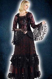 Gothic Kleid mit Spitzenrock