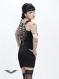 Gothic Kleid mit Brustkorb-Aufdruck