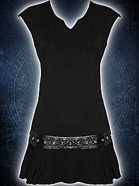 Kleid mit Nietenbesatz unbedruckt SPIRAL