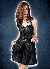 Lovesect Punk Mini Dress Wetlook