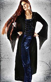 Midnight Lady Kleid, Samt