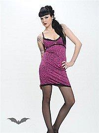 Pinkfarbenes Leopardenkleid mit Spitze
