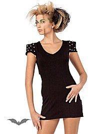 Rückenfreies Kleid mit nietenbesetzten Schultern
