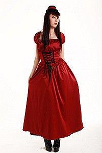 Sadie Satin Gothic Kleid