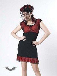 Schwarz-Rotes Kleid mit Schleife