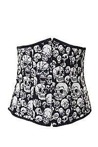 Skull Print Unterbrust Korsett