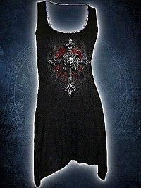 Vamp Fangs Langshirt schwarz SPIRAL