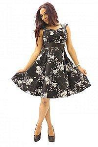 Vintage Floral Sweetheart Pinup Kleid