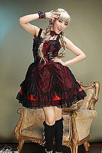 Visual Kei Dead Roses Dress Gothic Mini-Kleid