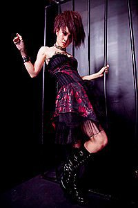 Visual Kei Dress Schulterfreies Gothic Kleid