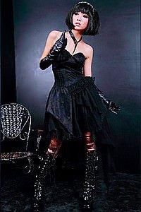 Visual Kei Gothic Kleid Schwarz