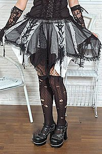 Visual Kei Laced Skirt Gothic Minirock