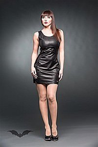 Wetlook Minikleid mit Ziern�hten
