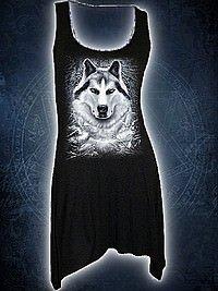 White Wolf Langshirt schwarz SPIRAL