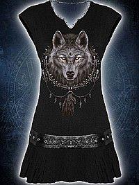 Wolf Dreams Kleid mit Nietenbesatz SPIRAL