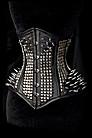 Gothic Metal Corset Korsett, Leder