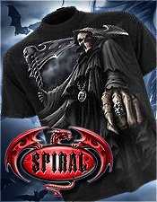 Gothic Spiral Direct printed shirts