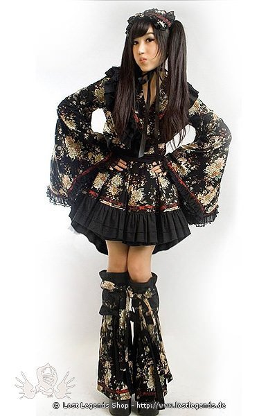 gothic lolita kimono dress kleid kleider. Black Bedroom Furniture Sets. Home Design Ideas
