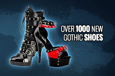 Gothic Shoes, Rangers, Boots, Pleaser, Bordello, New Rock