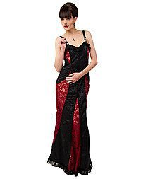 Aderlass Barock Dress Brocade Black-Bordeaux