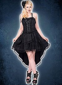 Aderlass Lolita Wing Dress Denim Black