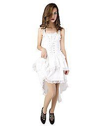 Aderlass Lolita Wing Dress Denim White