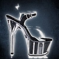 Adore-708 Clear-Black 16,25 cm High-Heel