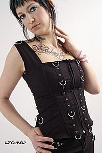 Anarchy Bodice Punk Top
