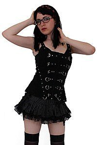 Anarchy Bustier Punky Top