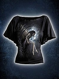 Angel Lament Girlie Latin Shirt schwarz SPIRAL