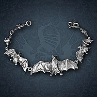 Armband Bangle Bats Silber