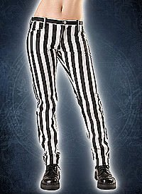Black Pistol Close Pants Stripe Black & White