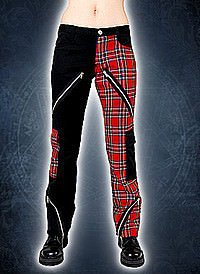 Black Pistol Freak Pants Tartan Black-Red