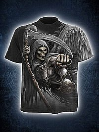 Death Angel Wrap AllOver T-Shirt schwarz SPIRAL