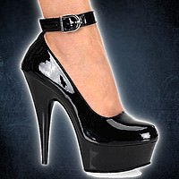 Delight-686 Black 14,35 cm High-Heel